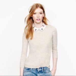 J Crew Convertible Jewel-Collar Sweater